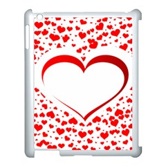 Love Red Hearth Apple Ipad 3/4 Case (white)