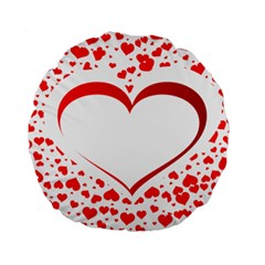 Love Red Hearth Standard 15  Premium Round Cushions
