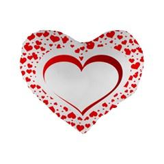 Love Red Hearth Standard 16  Premium Heart Shape Cushions