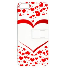 Love Red Hearth Apple Iphone 5 Hardshell Case With Stand