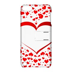 Love Red Hearth Apple Ipod Touch 5 Hardshell Case With Stand