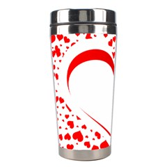 Love Red Hearth Stainless Steel Travel Tumblers