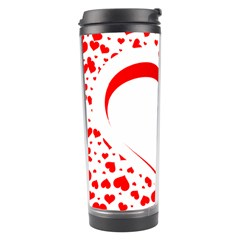 Love Red Hearth Travel Tumbler