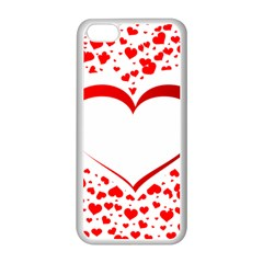 Love Red Hearth Apple Iphone 5c Seamless Case (white)