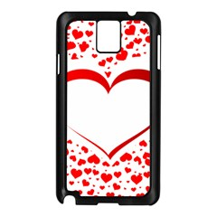 Love Red Hearth Samsung Galaxy Note 3 N9005 Case (black)