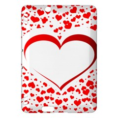 Love Red Hearth Kindle Fire Hdx Hardshell Case