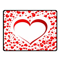 Love Red Hearth Double Sided Fleece Blanket (small)
