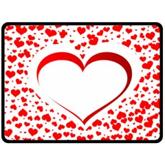 Love Red Hearth Double Sided Fleece Blanket (large)