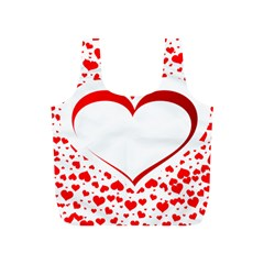 Love Red Hearth Full Print Recycle Bags (S)