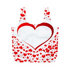 Love Red Hearth Full Print Recycle Bags (m)