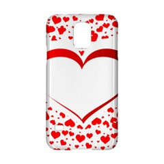 Love Red Hearth Samsung Galaxy S5 Hardshell Case