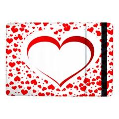 Love Red Hearth Samsung Galaxy Tab Pro 10 1  Flip Case