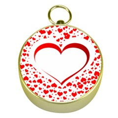 Love Red Hearth Gold Compasses