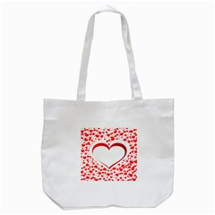 Love Red Hearth Tote Bag (white)