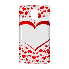 Love Red Hearth Samsung Galaxy Note 4 Hardshell Case