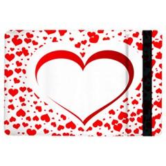 Love Red Hearth Ipad Air 2 Flip