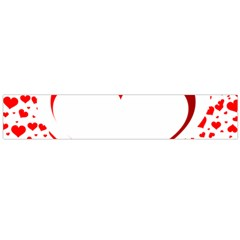 Love Red Hearth Flano Scarf (large)