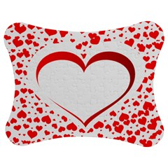 Love Red Hearth Jigsaw Puzzle Photo Stand (bow)