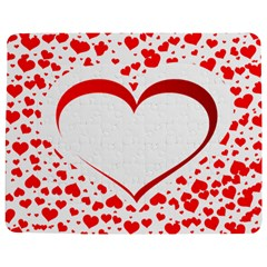 Love Red Hearth Jigsaw Puzzle Photo Stand (rectangular)