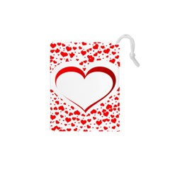 Love Red Hearth Drawstring Pouches (xs)