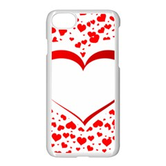 Love Red Hearth Apple Iphone 7 Seamless Case (white)