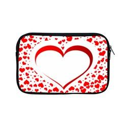 Love Red Hearth Apple Macbook Pro 13  Zipper Case