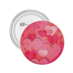 Hearts Pink Background 2 25  Buttons