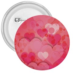 Hearts Pink Background 3  Buttons