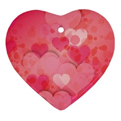 Hearts Pink Background Ornament (heart)