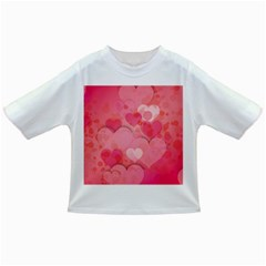 Hearts Pink Background Infant/Toddler T-Shirts