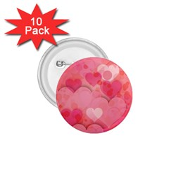 Hearts Pink Background 1.75  Buttons (10 pack)