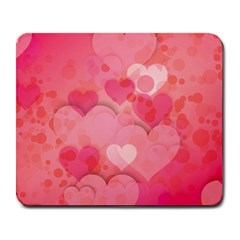 Hearts Pink Background Large Mousepads