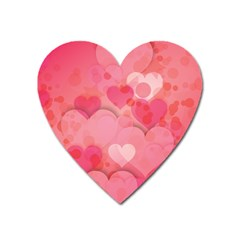 Hearts Pink Background Heart Magnet