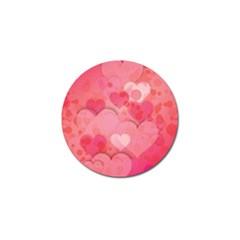 Hearts Pink Background Golf Ball Marker (10 Pack)