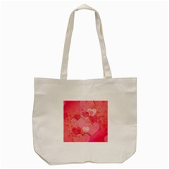 Hearts Pink Background Tote Bag (cream)