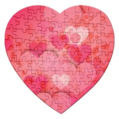 Hearts Pink Background Jigsaw Puzzle (heart)