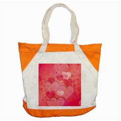 Hearts Pink Background Accent Tote Bag