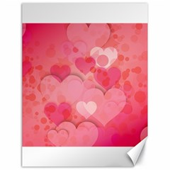 Hearts Pink Background Canvas 18  X 24