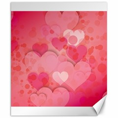 Hearts Pink Background Canvas 20  X 24