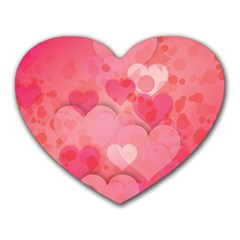 Hearts Pink Background Heart Mousepads