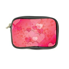 Hearts Pink Background Coin Purse