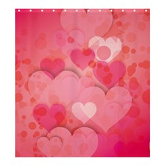 Hearts Pink Background Shower Curtain 66  X 72  (large)