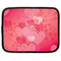Hearts Pink Background Netbook Case (xxl)