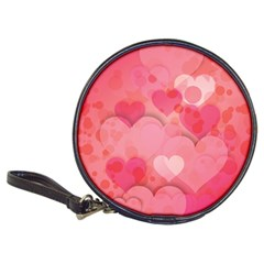 Hearts Pink Background Classic 20 Cd Wallets