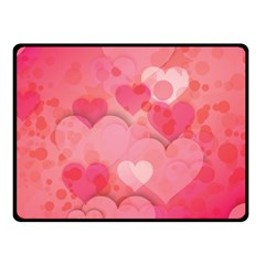 Hearts Pink Background Fleece Blanket (Small)
