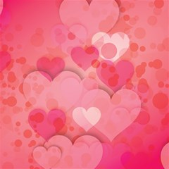 Hearts Pink Background Magic Photo Cubes
