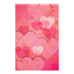 Hearts Pink Background Shower Curtain 48  X 72  (small)