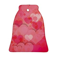 Hearts Pink Background Ornament (bell)