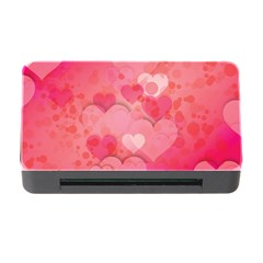 Hearts Pink Background Memory Card Reader With Cf
