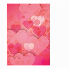 Hearts Pink Background Small Garden Flag (two Sides)